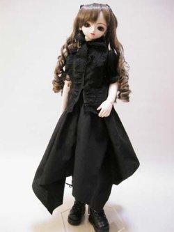 画像1: SD女の子用スタンドカラーパフスリーブブラウスの型紙