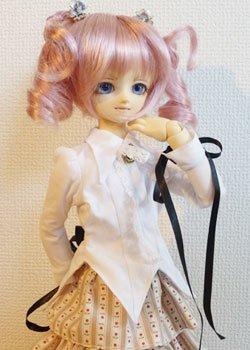 画像1: MSD女の子用シャツカラー燕尾編み上げブラウスの型紙
