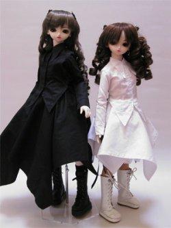 画像2: SD女の子用シャツカラー燕尾編み上げブラウスの型紙