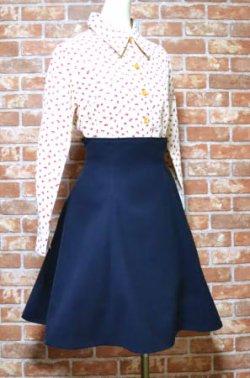 画像1: ハイウエストスカートの型紙 レディース