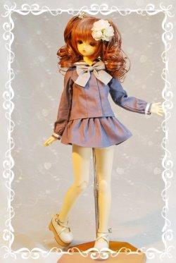 画像1: SD女の子用セーラーブラウスの型紙