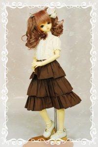 SD女の子用 3段ティアードスカートの型紙