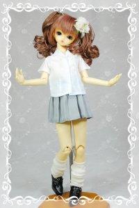 SD女の子用 プリーツスカートの型紙