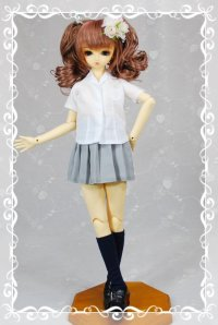 SD女の子用開襟シャツの型紙