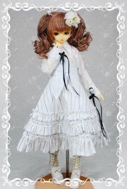 画像1: SD女の子用シャツカラー燕尾編み上げブラウスの型紙