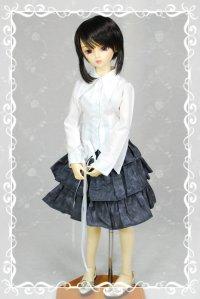 SD13女の子用3段ティアードスカートの型紙