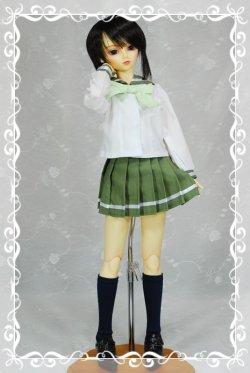画像1: SD13女の子用 プリーツスカートの型紙
