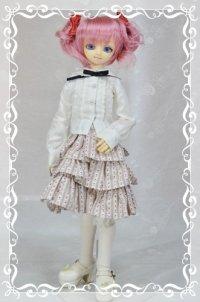 MSD女の子用3段ティアードスカートの型紙