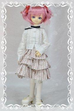 画像1: MSD女の子用3段ティアードスカートの型紙