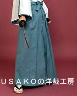 画像1: 侍、武将コスプレに 袴もどきの型紙