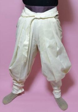画像2: 忍者、戦国時代のコスプレに  祭りたっつけ袴もどきの型紙 婦人