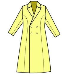 画像2: Wボタンのテーラードカラーのコートの型紙レディース