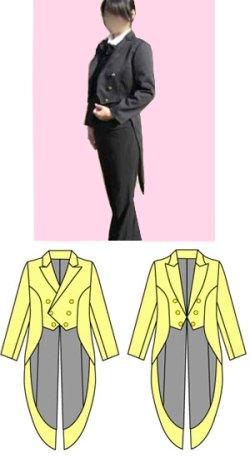 画像1: 女性用燕尾服の型紙 レディース