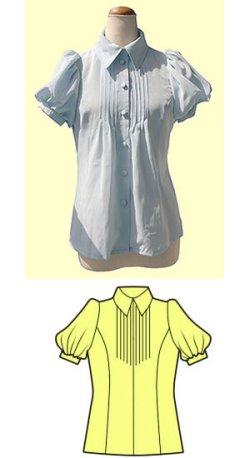 画像1: ピンタックブラウスの型紙【委託商品】レディース