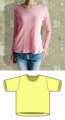 画像1: V・クルー(丸えり)ネックセーターの型紙【委託商品】レディース