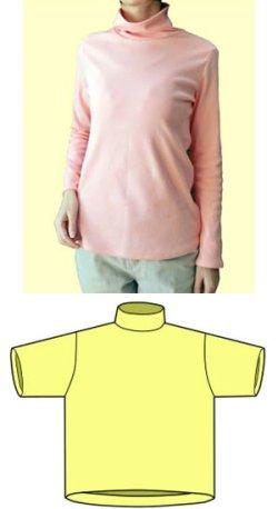 画像1: タートルネックシャツの型紙【委託商品】レディース