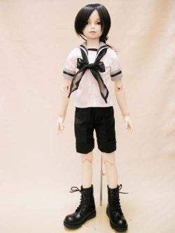 画像1: SD13男の子用 セーラーシャツの型紙