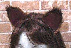 画像1: 【無料】ネコ耳(犬などのほかの耳も作れる)型紙「お試し」