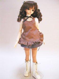 画像2: SD女の子用アシンメトリーエプロンの型紙