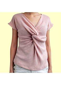 画像1: ツイストシャツの型紙【委託商品】レディース