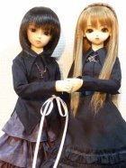 他の写真2: SD13女の子用シャツカラー燕尾編み上げブラウス