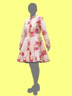 画像1: プリンセスラインのコートの型紙 レディース