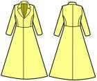 他の写真3: テーラードカラーのコートの型紙 レディース