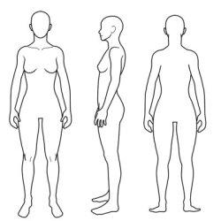 画像1: デザイン下書き用イラスト 女性