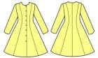 他の写真2: プリンセスラインのワンピース 前ボタン開きの型紙 レディース