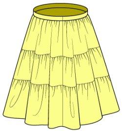 画像3: DD M胸(DDII,III)、SD、SD13女の子用裏つきギャザースカートの型紙