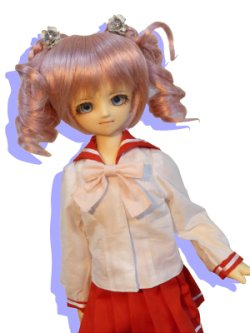 画像1: MSD女の子用 セーラーカラーのブラウスの型紙