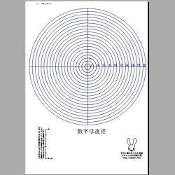 画像1: 直径1〜20cmの円のテンプレート