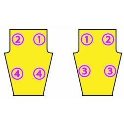 画像1: 10分の1サイズの練習用ズボンの型紙