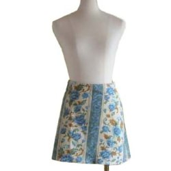 画像1: 【無料】ミニスカート出来上がりウエスト78cm の型紙