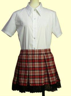 画像1: 8本ボックスプリーツスカートの型紙 レディース