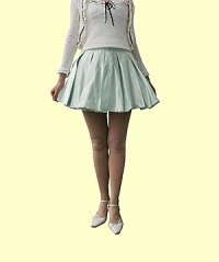 二次元シルエットの広がるボックスプリーツスカートの型紙【委託商品】