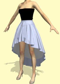 画像1: ロングテールスカートの型紙 レディース
