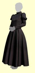 他の写真2: 全円スカートのワンピースの型紙(後ファスナー) レディース