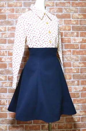 ハイウエストスカートの型紙