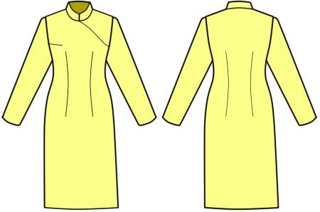 チャイナドレスの型紙