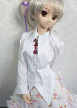 DD M胸(DDII)用シャツカラー燕尾編み上げブラウスの型紙