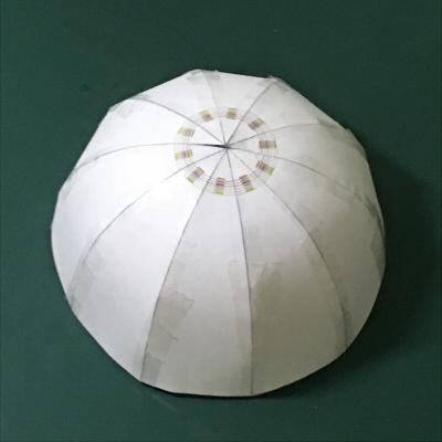 半球・ドーム状・球の型紙(模型)