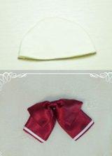リボンとヘッドキャップのセット型紙
