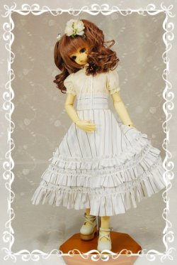 画像1: 3段フリルハイウエストスカートの型紙 少女用