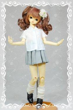 画像1: プリーツスカートの型紙 少女用