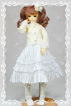 画像1: フラットカラーブラウスの型紙 少女用