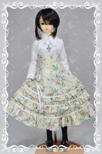 SD13女の子用 3段フリルハイウエストスカートの型紙
