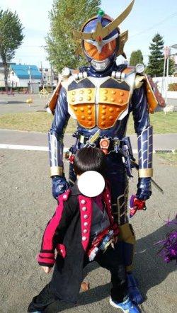 画像1: 仮面ライダー鎧武と駆紋戒斗 投稿者:仮面ライダーおやぢ様