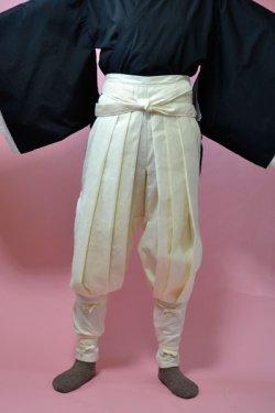 画像1: 忍者、戦国時代のコスプレに 祭りたっつけ袴もどきの型紙 婦人