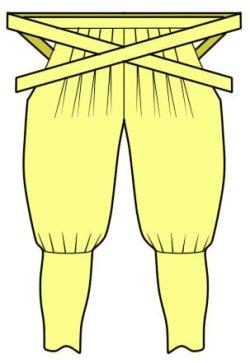 画像4: 忍者、戦国時代のコスプレに  祭りたっつけ袴もどきの型紙 婦人
